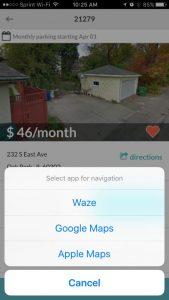 Select your favorite navigation app.