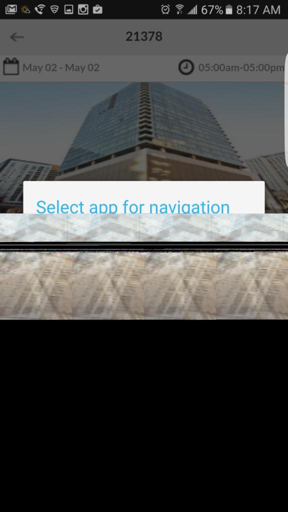 Select app for navigation