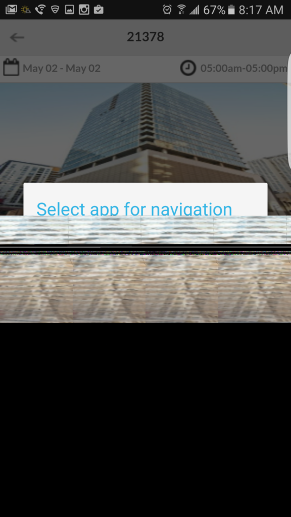 Select app for navigation