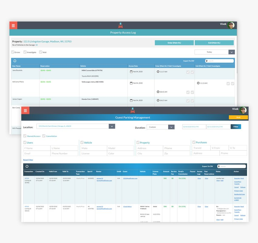Access+ app Reporting Management