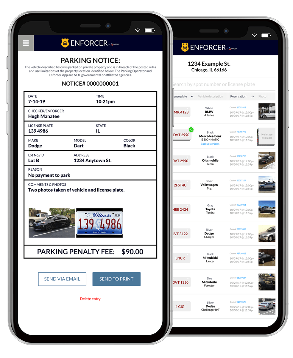 Enforcer App | Real-Time Parking Enforcement App | ParqEx