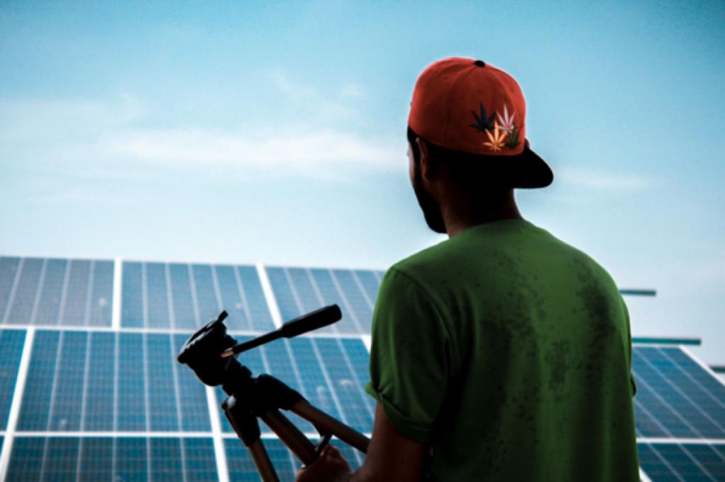Man-Facing-Solar-Panels