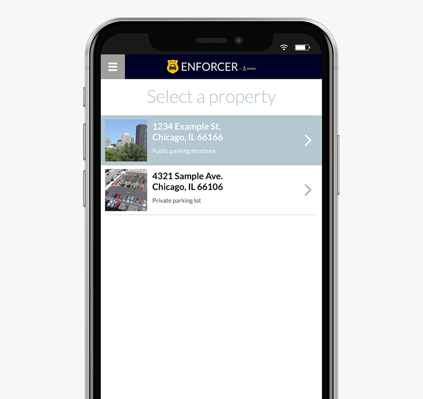 Enforcer App Features | Multiple Properties | Real-Time Parking Enforcement App | ParqEx