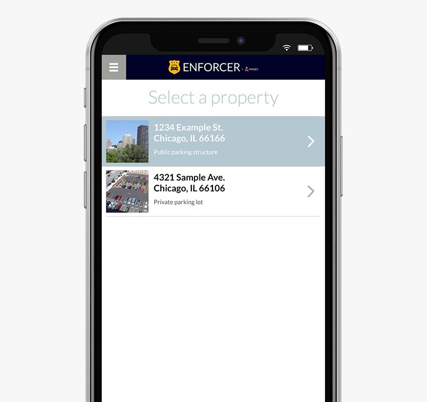 Enforcer App Features | Multiple Properties | Real-Time Parking Enforcement App | ParqEx
