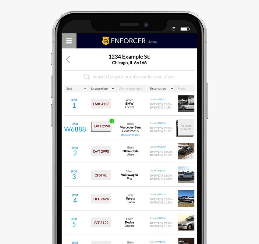 Enforcer App Features | Verify Registered Vehicles | Real-Time Parking Enforcement App | ParqEx