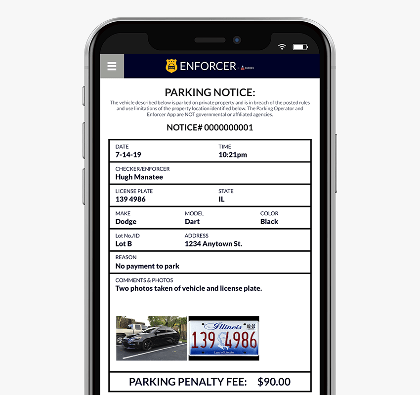 Enforcer App Features | Enforce Parking Violations | Real-Time Parking Enforcement App | ParqEx