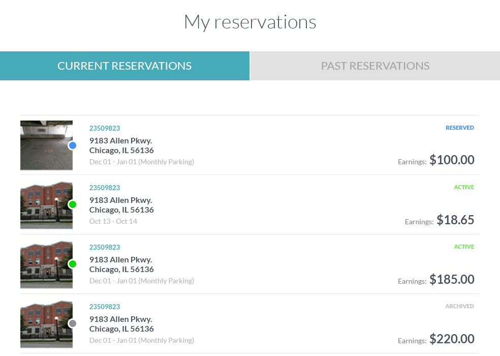 ParqEx How to List a Spot | My Reservations