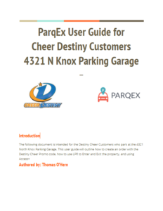 ParqEx User Guide for Cheer Destiny Customers - Knox