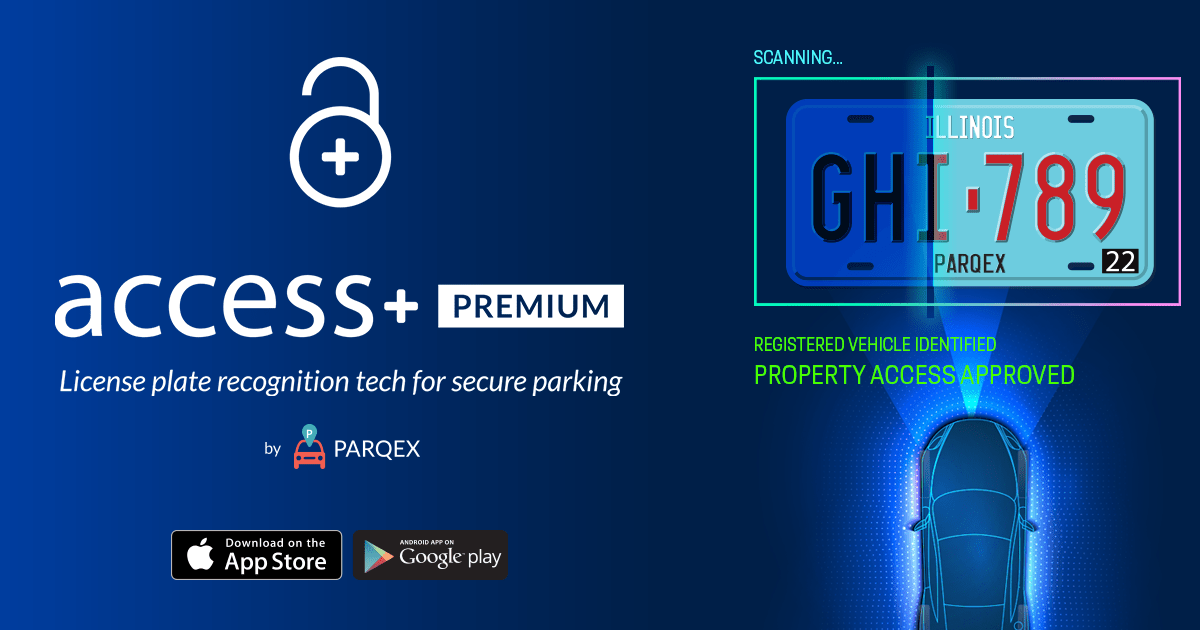 Access Plus PREMIUM License Plate Recognition Touchless Property Parking