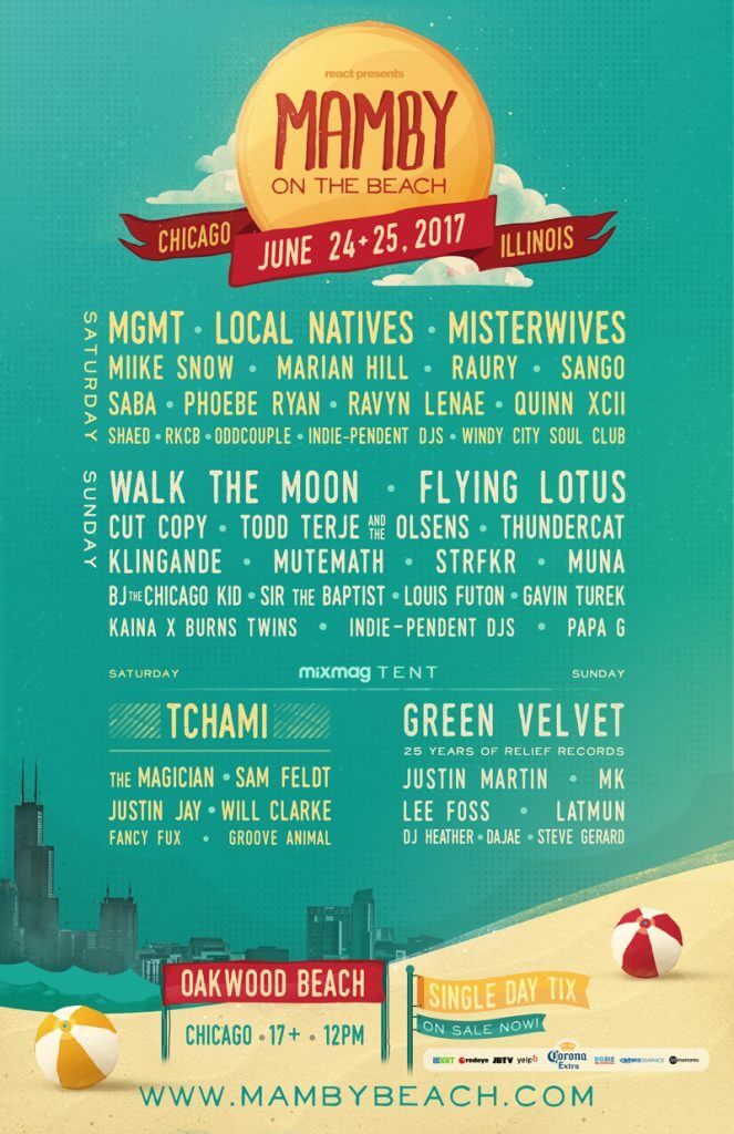 mamby-on-the-beach-2017-flyer-2 Music Festivals in Chicago Spring & Summer '17